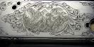 Jagdgravurmotive-Motiv amerikanische Quails nach eigener Idee- Ornamentumrandung nach Vorlage