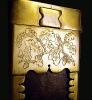 Messerscheide-Historisch angelehnt nach eigenem Entwurf Eichenlaub