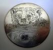 Türschild mit einer Handgravur: Baerenkopf