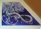 Drachen nach verschiedensten Vorlagen gestaltet mit vorherigem Entwurf,  ca. 80cm x 120cm großes Wandbild