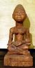Kleinplastik afrikanische Figur nach Vorlage geschnitzt Lindenholz bemalt