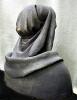 Historisches Portrait - Styropor-Spachtelmasse- Farbe- Bronzeimitat